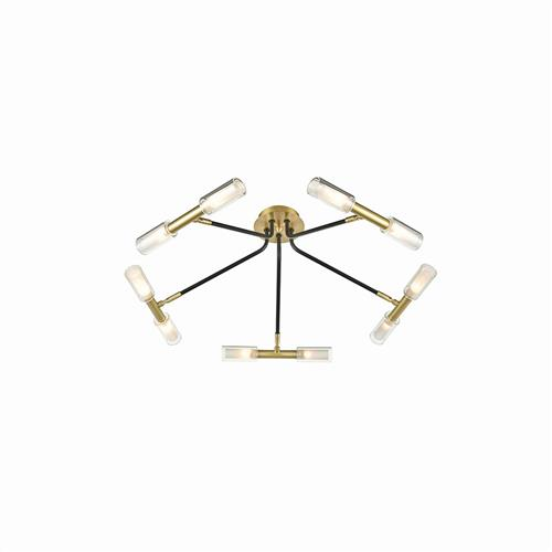 Dayle Black & Bronze Ten Light Ceiling Fitting TP2453-10
