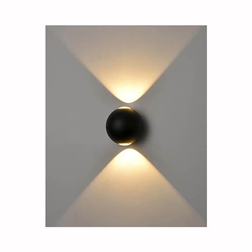 Delight LED Matt Black Outdoor Wall Light OUW6682