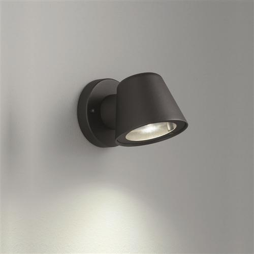Exto Matt Black Exterior LED Wall Light Ext6619