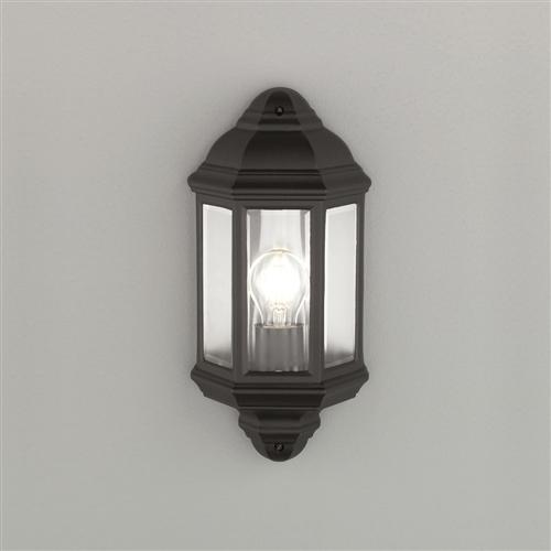 Exto Outdoor Black Half Lantern Ext6613