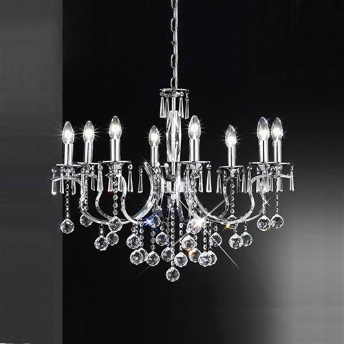 Taffeta Crystal Chandelier Light Fl2155/8