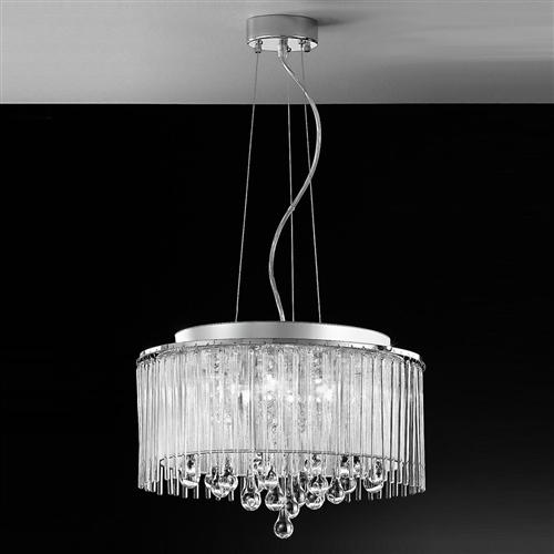 Spirit Chrome Ceiling Crystal Pendant Light Fl2161/6