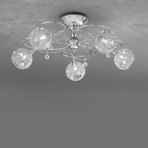 Orion Semi Flush Chrome Light Fl2214 5 The Lighting