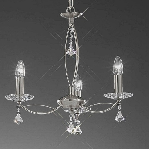 Monaco 3 Arm Crystal Ceiling Light Fl2225/3