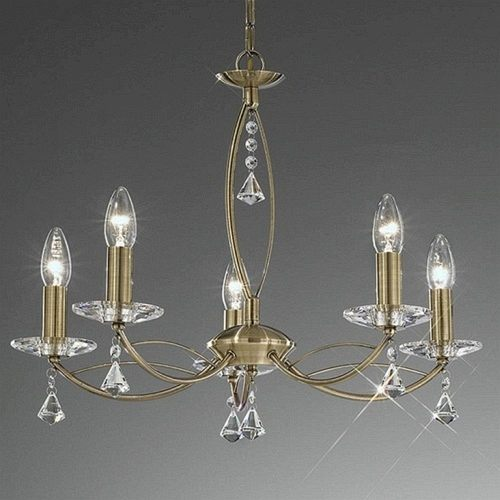 Susan 5 Bronze Light Decorative Crystal Ceiling Light TP2228/5