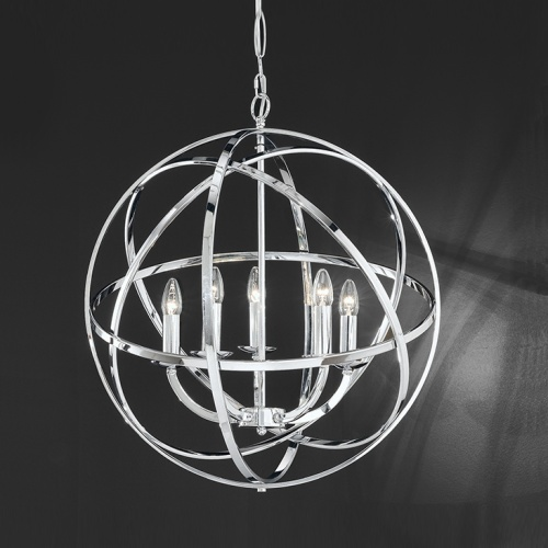 Rhea Chrome 6 Light Modern Ceiling Pendant TP2280/5