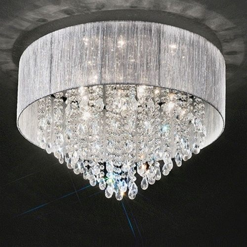 Perle Semi Flush Crystal Ceiling Light TP2281/7