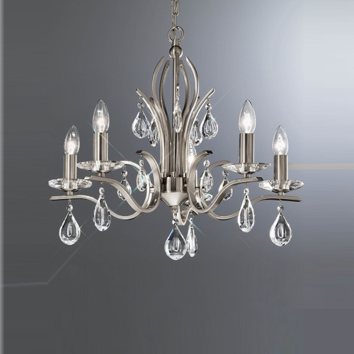 willow 5 arm crystal ceiling light the lighting superstore