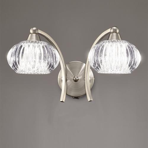 Ripple Satin Nickel Double Wall Light Fl2335/2