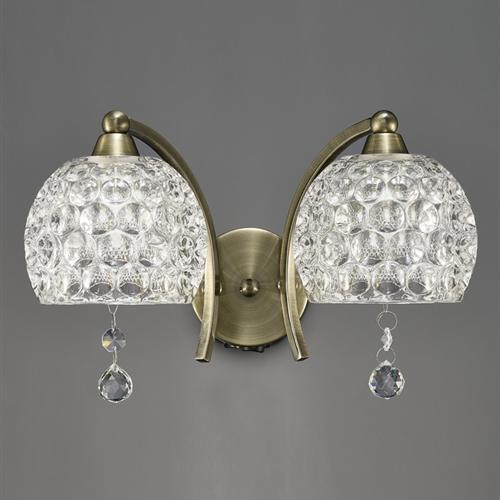 Neo Crystal Double Arm Wall Light Fl2338/2