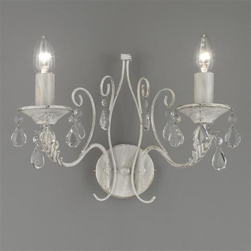 FL2355/2 Aria Crystal Double Wall Light