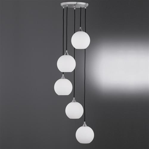 FL2356/5/986 Vetross Ice 5 Light Ceiling Pendant