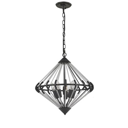 Follie 5 Light Iron Ceiling Pendant Fl2363/5