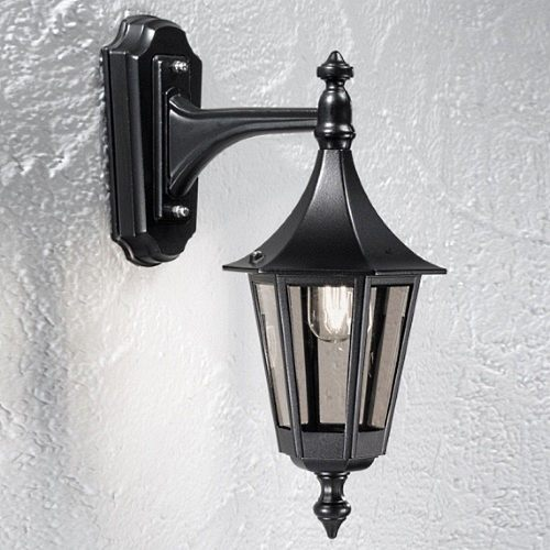 Boulevard Black Downwards Wall Lantern PJ1603-1
