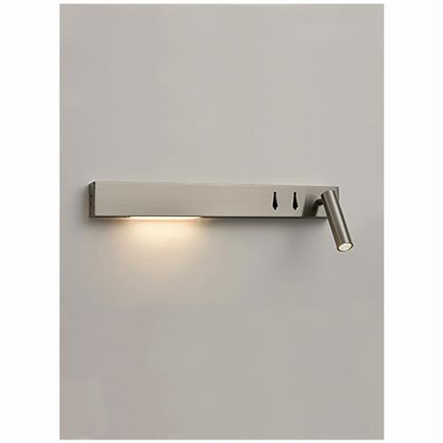 LED USB Right Sided Satin Nickel Wall Reading Light QF101
