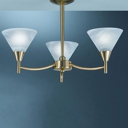 Harmony Satin Brass Ceiling Light Pe8013