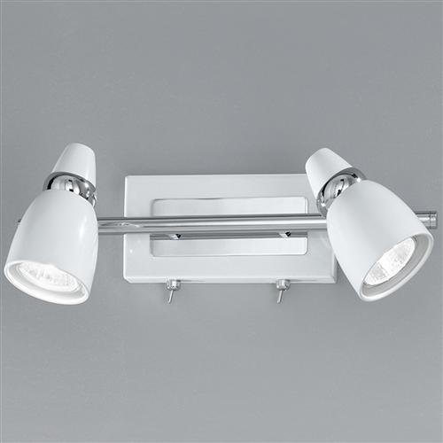 Symphony Twin Wall Lights : Pixon LED Twin Lamp Switched Wall Spot Spot8932 The Lighting Superstore