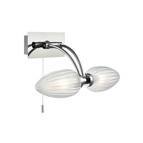 Pattie Glass Double LED Bathroom Wall light QF101