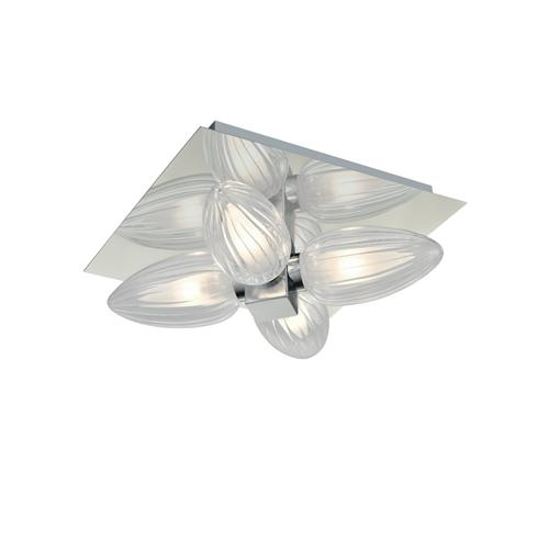 Ridged Glass LED Bathroom Light Cf5778