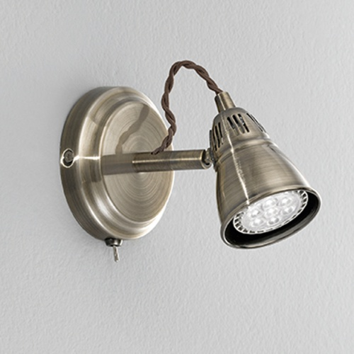 SPOT8951 Rustica Single spot wall light