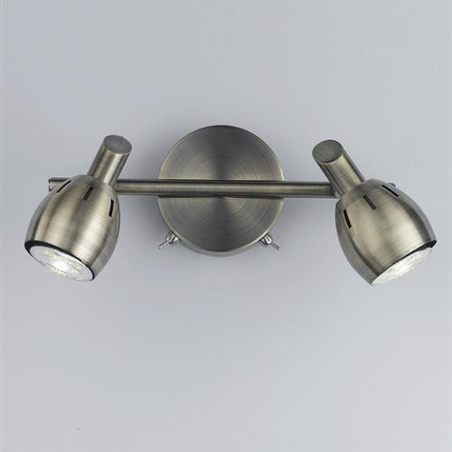 Symphony Twin Wall Lights : Tivoli Double Wall Spotlight The Lighting Superstore