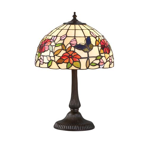 Butterfly Small Dark Bronze Tiffany Table Lamp 63998