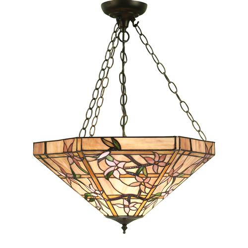 Clematis Inverted Triple Pendant Light 64019
