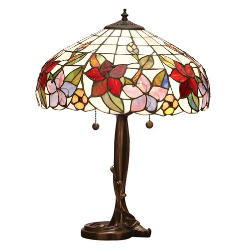 Country Border Tiffany Table Lamp 64031