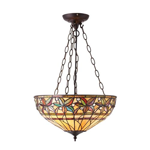 Large Ashtead Inverted Three Light Pendant 66401