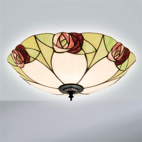 Ingram Tiffany Flush Ceiling Light 64182