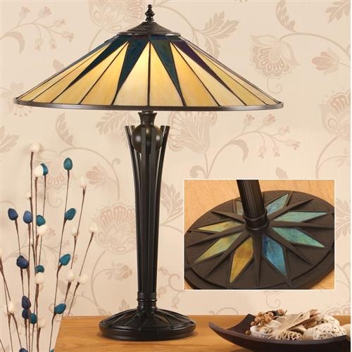 64045 Dark Star Tiffany Table Lamp