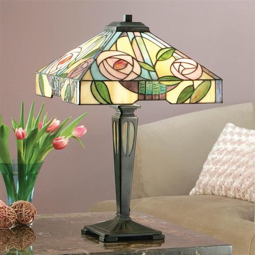 Willow Medium Sized Tiffany Table Lamp 64387