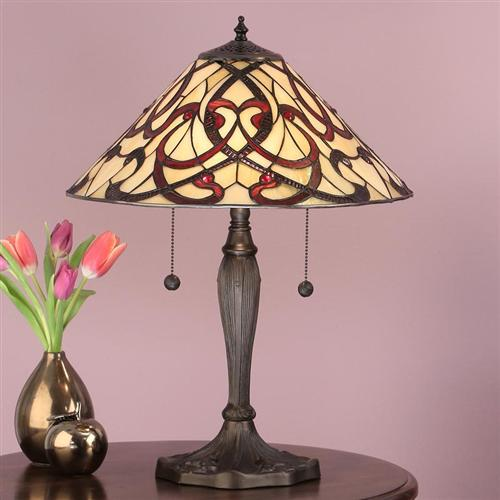 Ruban Switched Tiffany Table Lamp 64321