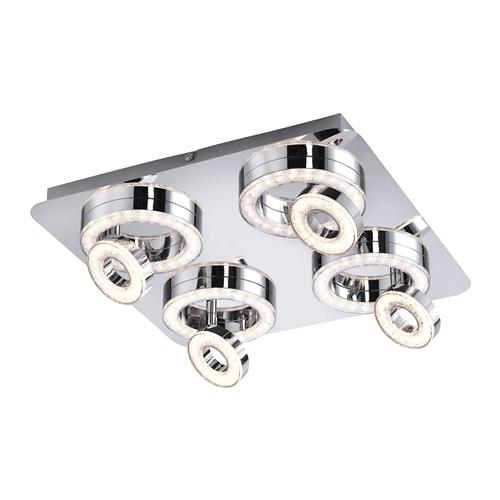 Tim Adjustable LED Crystal Effect Ceiling Light 14522-17