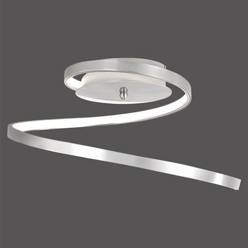 Wave led semi flush ceiling light 15129 55