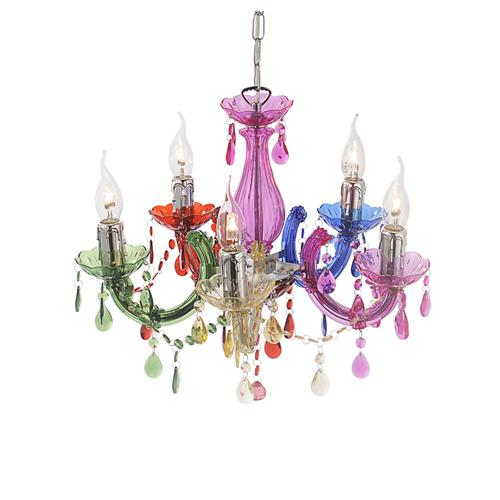 Miya Multi Coloured Chandelier 15047 70 The Lighting