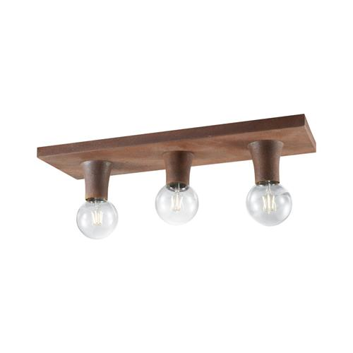 Lure Three Light Rustic Ceiling Fitting LD0269