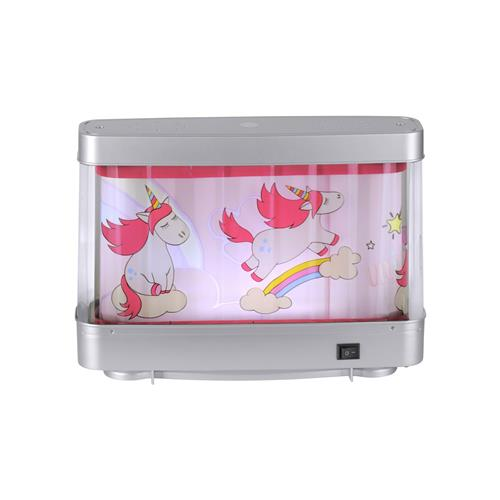 Novelty Unicorn LED Silver/Pink Children'S Bedroom Lamp 85206-70