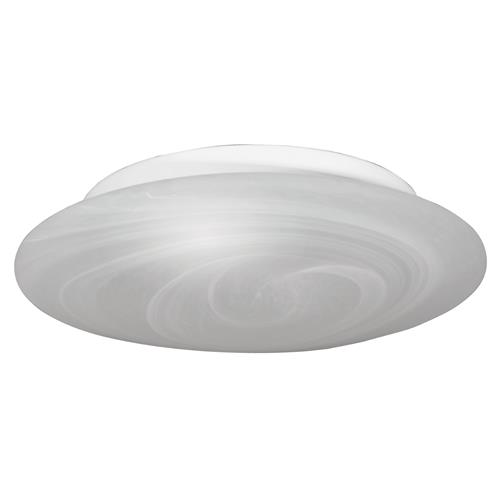 Lumley White Ceiling Flush 2 Light With Alabaster Glass Shade FH1496