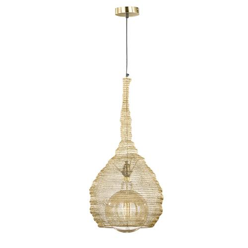 Amwell Gold Coloured Mesh Pendant FH1395