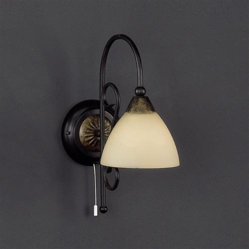 Fovant Rust Coloured Champagne Glass Wall Light FH1240
