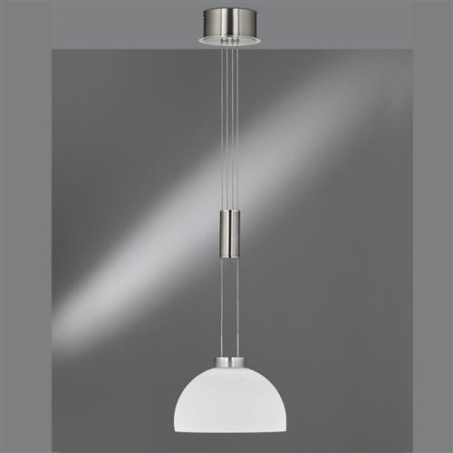 Avignon Nickel/Chrome LED Rise And Fall Pendant 60143