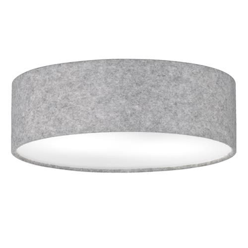 Firsby Grey Finished 3 Light Semi Flush Ceiling Fitting FH1123