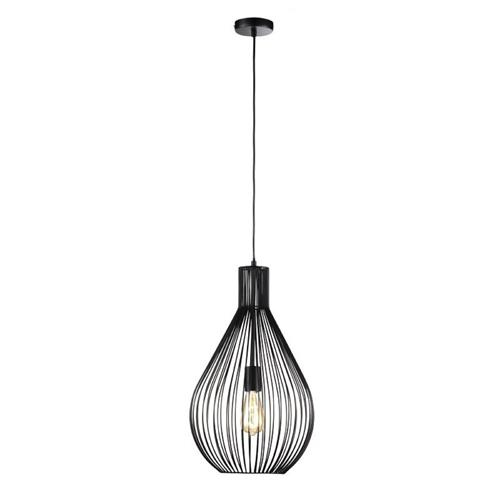 Habton Matt Black Small Pendant Light FH1455
