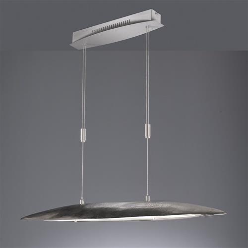Fairburn CCT Rise And Fall LED Nickel Pendant Light FH0817