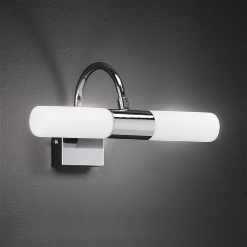 Fradley Polished Chrome 2 Light Wall Fitting FH1249