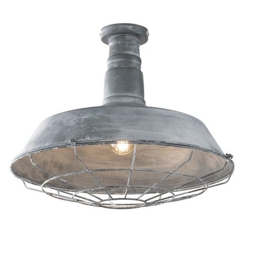 Evan Semi-Flush Grey Coloured Ceiling Light 20497