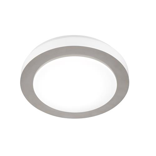 Findern Matt Nickel/White LED Flush Ceiling Light FH1105