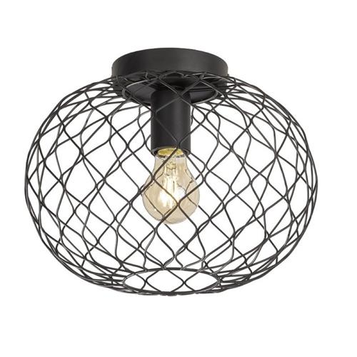 Faxfleet Matt Black Ceiling Light FH1029