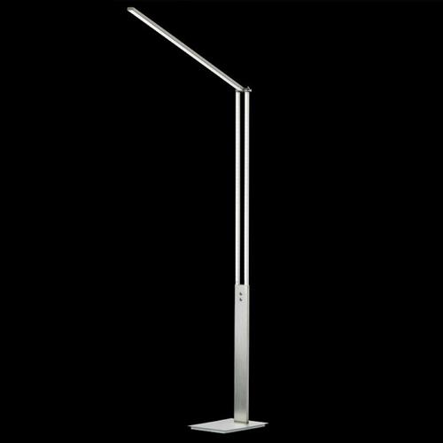 Glasbury Matt Nickel CCT LED Dimmable Floor Lamp FH1271